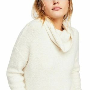 Free People W's Stormy Cowl Turtleneck Pullover